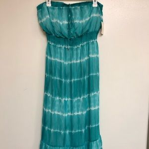 GUESS Turquoise Tie Dye Maxi Dress 👗